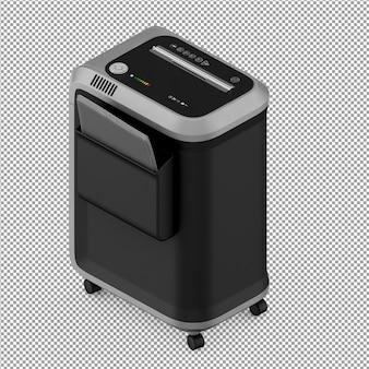 Isometrische kantoorapparatuur 3d render