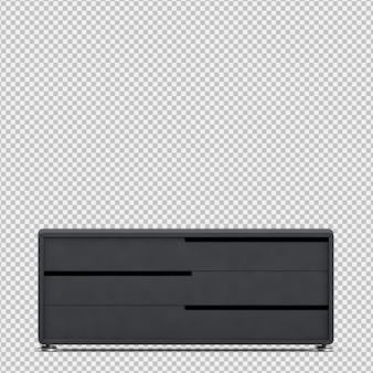 Isometrische kast 3d render