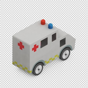 Isometrische kid auto speelgoed