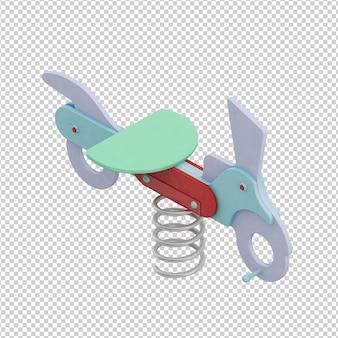 Isometrische kid vliegtuig speelgoed