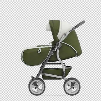 Isometrische kinderwagen