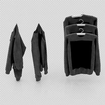 Isometrische kleding als 3d geïsoleerd render