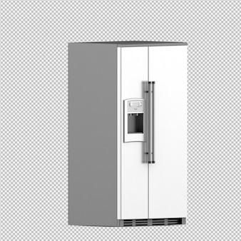 Isometrische koelkast 3d render
