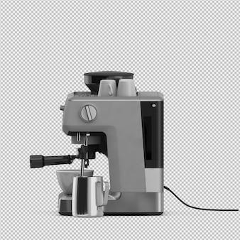 Isometrische koffiemachine 3d geïsoleerd render