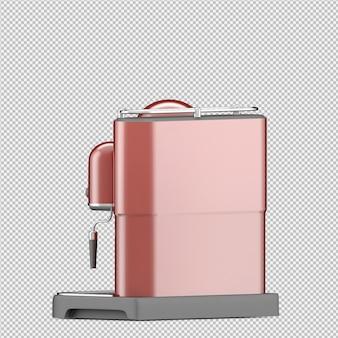 Isometrische koffiemachine 3d render