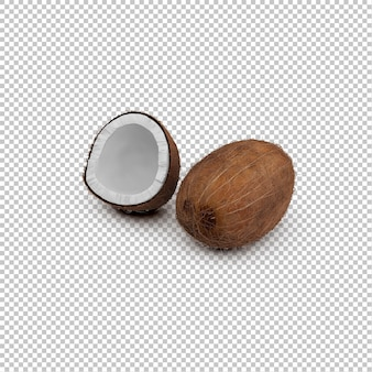Isometrische kokosnoten