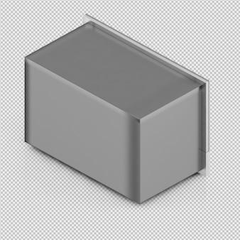 Isometrische magnetron 3d render