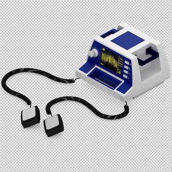 Isometrische medische 3d-apparatuur renderen