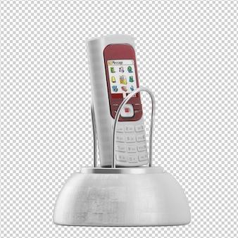 Isometrische mobiele telefoon