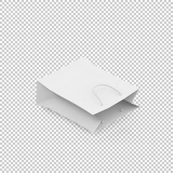 Isometrische papieren zak