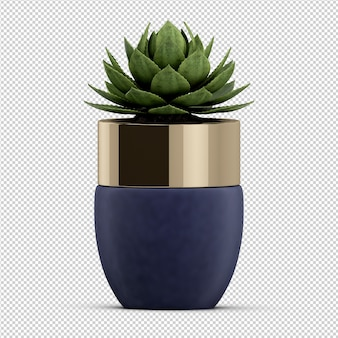 Isometrische plant 3d-rendering