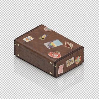 Isometrische retro koffer