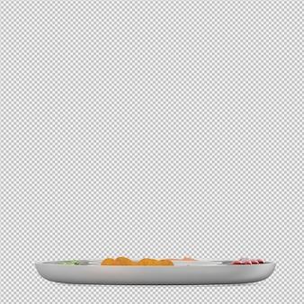 Isometrische salat 3d render