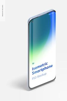 Isometrische smartphone mockup, portret juiste weergave