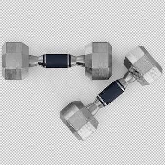 Isometrische sport en fitnessapparatuur 3d render