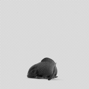 Isometrische standbeeld 3d geïsoleerd render