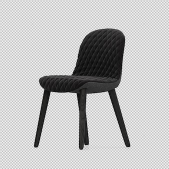 Isometrische stoel 3d geïsoleerd render