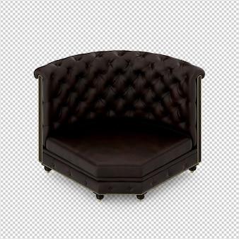 Isometrische stoel 3d geïsoleerde rendering