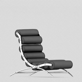Isometrische stoel 3d render