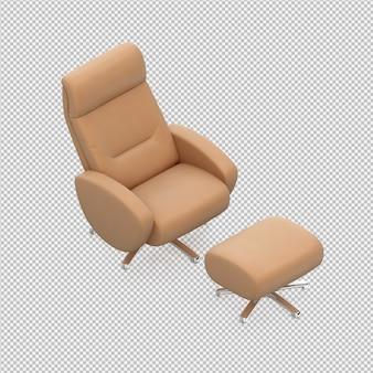 Isometrische stoel voet stoel 3d renderen