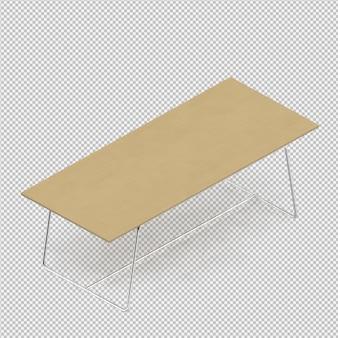 Isometrische tabel 3d render