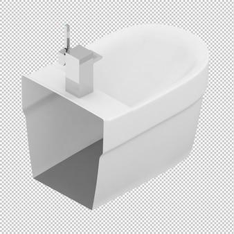 Isometrische toiler zinkt