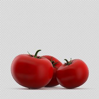 Isometrische tomaten 3d render