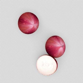 Isometrische uien 3d render