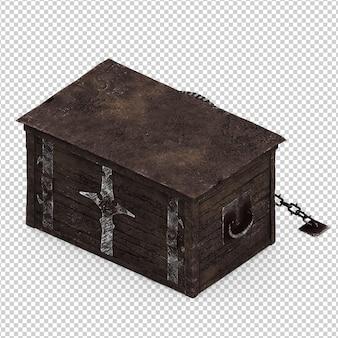 Isometrische vintage doos