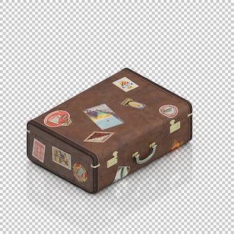Isometrische vintage koffer