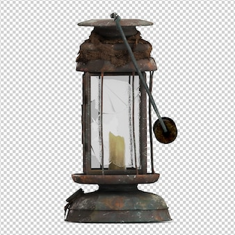 Isometrische vintage lantaarn