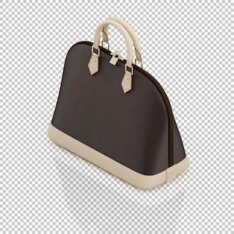 Isometrische vrouwelijke tas