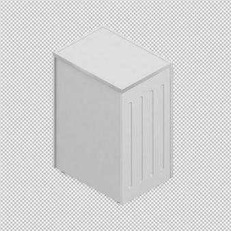 Isometrische wasmachine 3d render