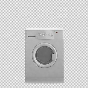Isometrische wasserij 3d render