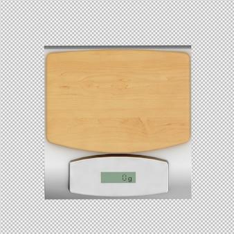 Isometrische weegschalen 3d render