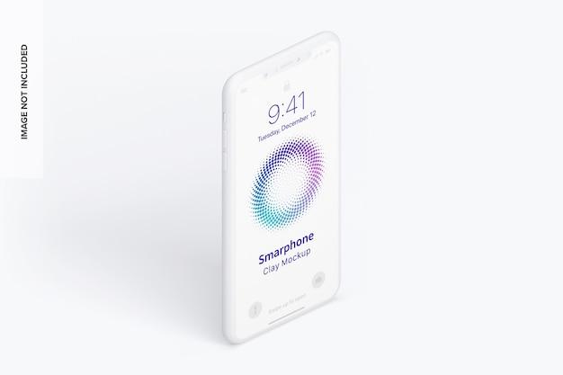 Isometrische weergave smartphone mockup