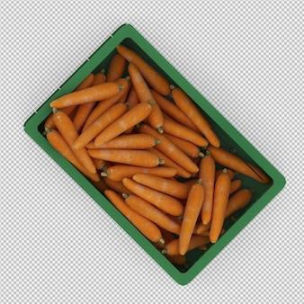 Isometrische wortelen 3d render