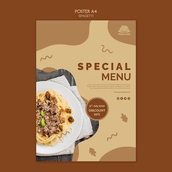 Italiaans eten poster