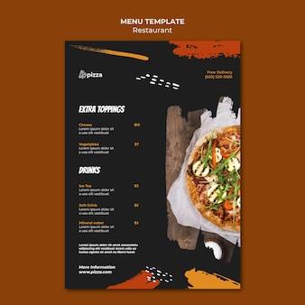 Italiaans eten restaurant menu