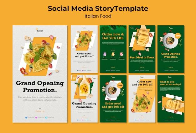 Italiaans eten social media verhaal