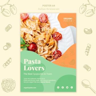 Italiaans restaurant poster stijl
