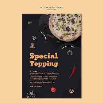 Italiaans restaurant sjabloon poster