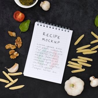 Italiaanse voedselregeling plat