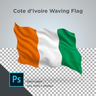 Ivoorkust vlag wave transparant psd