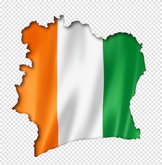 Ivoriaanse vlag kaart
