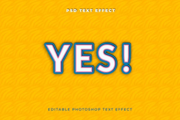 Ja teksteffectsjabloon