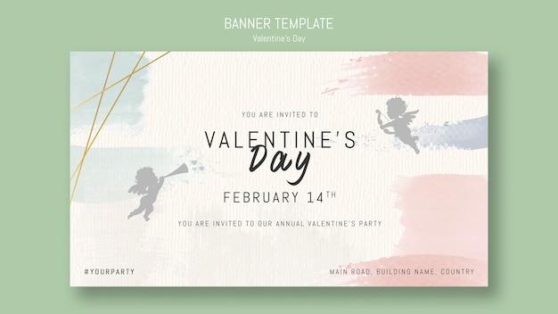 Jaarlijkse valentijnsdag partij uitnodiging met engelen
