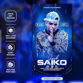 Jack saiko instagram verhaal of social media verhalen sjabloon