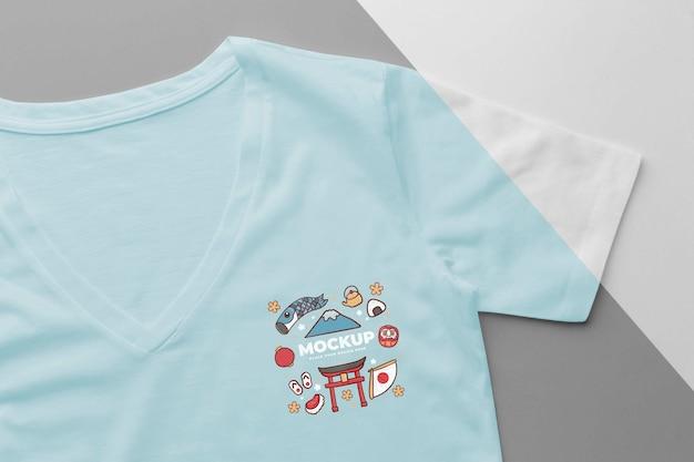 Japanse t-shirt mock-up samenstelling