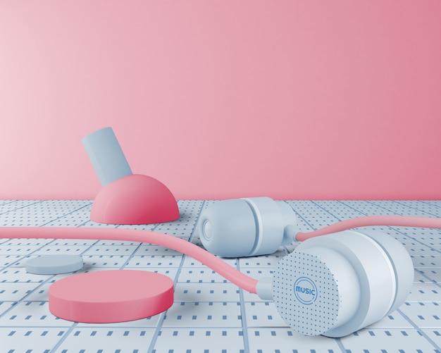Jaren 80 minimalistische oortelefoons